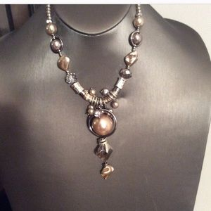 Contemporary Pearl Bead Necklace